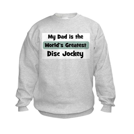 Worlds Greatest Disc Jockey Kids Sweatshirt