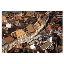 Rooftops In The City Of Strasbourg, Alsace Region,