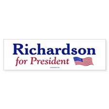 Bill Richardson '08 Bumper Car Sticker