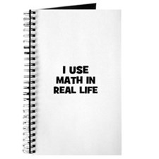 I Use Math In Real Life Journal