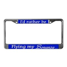 Flying My Bonanza License Plate Frame