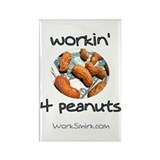 Workin' 4 Peanuts Rectangle Magnet (100 pack)