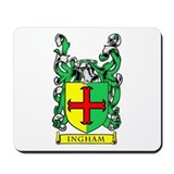 INGHAM Coat of Arms Mousepad