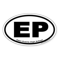 "Eden Prairie High School ""EP"" Oval Decal"