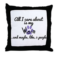 Cool Care about Throw Pillow