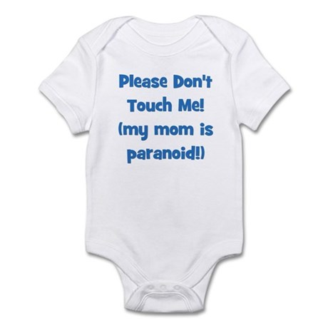 Please Don't Touch! Blue Infant Bodysuit