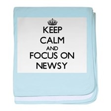Keep Calm and focus on Newsy baby blanket