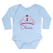 Custom Tiara Long Sleeve Infant Bodysuit