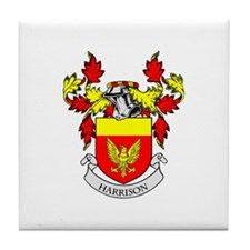 HARRISON Coat of Arms Tile Coaster