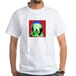 Bearded Collie White T-Shirt