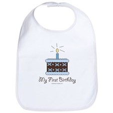 My First Birthday Cake Baby Boy Bib