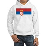 Serbia Flag Hooded Sweatshirt