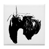 Cute Giant schnauzer Tile Coaster