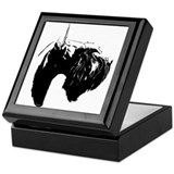 Cute Standard schnauzer Keepsake Box
