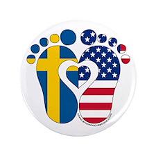 "Swedish American Baby 3.5"" Button"