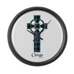 Cross - Clergy Large Wall Clock