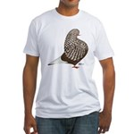 Brown Teager Pigeon Fitted T-Shirt