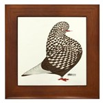 Brown Teager Pigeon Framed Tile