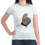 Brown Teager Pigeon Jr. Ringer T-Shirt