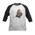 Brown Teager Pigeon Kids Baseball Jersey