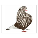 Brown Teager Pigeon Small Poster