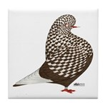 Brown Teager Pigeon Tile Coaster