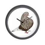 Brown Teager Pigeon Wall Clock