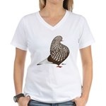 Brown Teager Pigeon Women's V-Neck T-Shirt