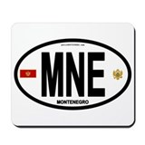 Montenegro Intl Oval Mousepad