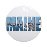 Maine Ornament (Round)