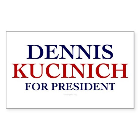 Kucinich for President Rectangle Sticker