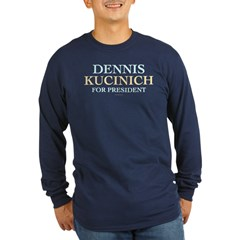 Kucinich for President Long Sleeve Navy T-Shirt