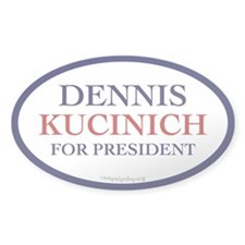 Kucinich for President Oval Decal