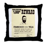 Wanted Pacho Villa Throw Pillow