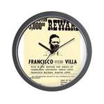 Wanted Pacho Villa Wall Clock