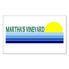 Martha's Vineyard Rectangle Decal