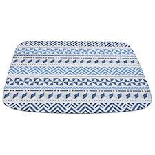 Tribal Blue Pattern Bathmat