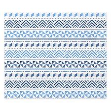 Tribal Blue Pattern King Duvet