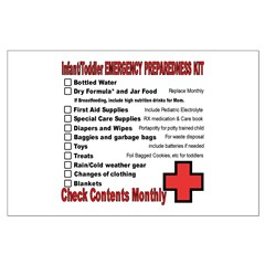 INFANT/TODDLER Emergency Preparation Posters