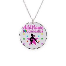 GYMNAST CHICK Necklace Circle Charm