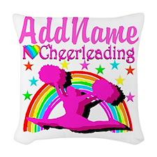 CHEERLEADING STAR Woven Throw Pillow