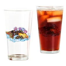 Koi and Lotus (H) Drinking Glass