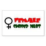 More Female Chopper Pilot Rectangle Decal