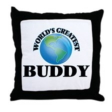 World's Greatest Buddy Throw Pillow