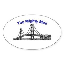 The Mighty Mac Oval Decal
