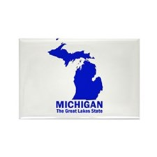Michigan . . . The Great Lake Rectangle Magnet (10