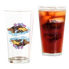 koi and Lotus (C) Drinking Glass