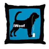 iWoof Bloodhound Throw Pillow