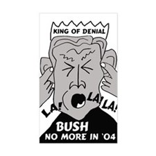 Bush King of Denial Rectangle Decal