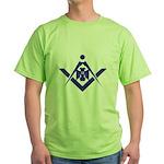 Wings down 32 Masonic Eagle Green T-Shirt